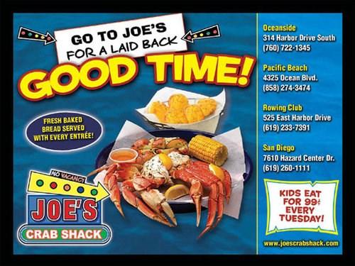 Joe's crab shack birthday deals