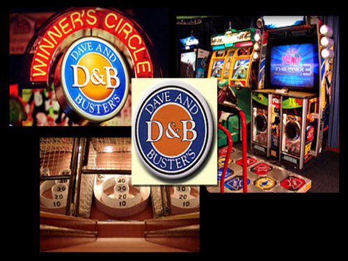Dave and Buster's Happy Hour. If you visit Dave & Buster's during Happy Hour then you can take advantage of cheaper drinks, cheaper snacks and cheaper games. On our Dave & Buster's Happy Hour page we discuss the best times to visit, including the Power Hour, where 60 minutes of gameplay during select times and on select days costs just $